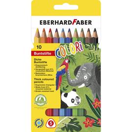 Farbstifte JUMBO dreikant Kartonetui sortiert Eberhard Faber 511409 (ETUI=10 STÜCK) Produktbild