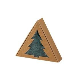Geschenkverpackung Allround natur Dreieck Baum / 275 x 243 x 75mm Famulus 200003 Produktbild