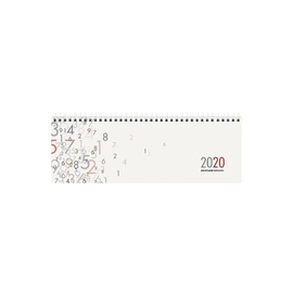 Querkalender 2020 32x11cm 1Woche/2Seiten weiß Spiralbindung Zettler 197-0000 Produktbild