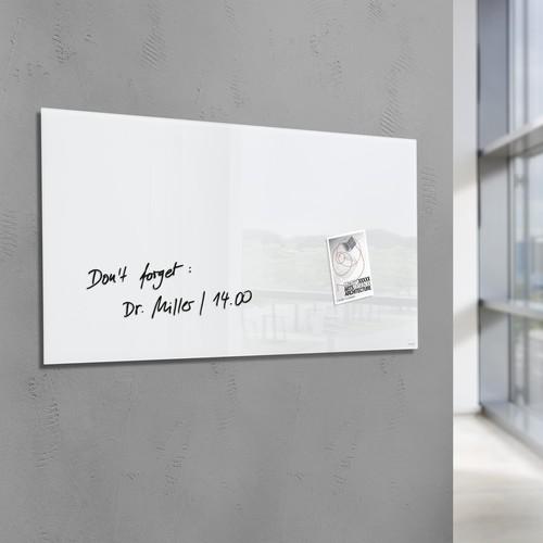 Glas-Magnetboard artverum 1300x550x15mm super-weiß inkl. Magnete Sigel GL241 Produktbild Additional View 6 L