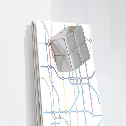 Glas-Magnetboard artverum 1300x550x15mm super-weiß inkl. Magnete Sigel GL241 Produktbild Additional View 4 L