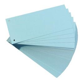 Trennstreifen gelocht 104x240mm blau recycling Karton Herlitz 10843480 (PACK=100 STÜCK) Produktbild