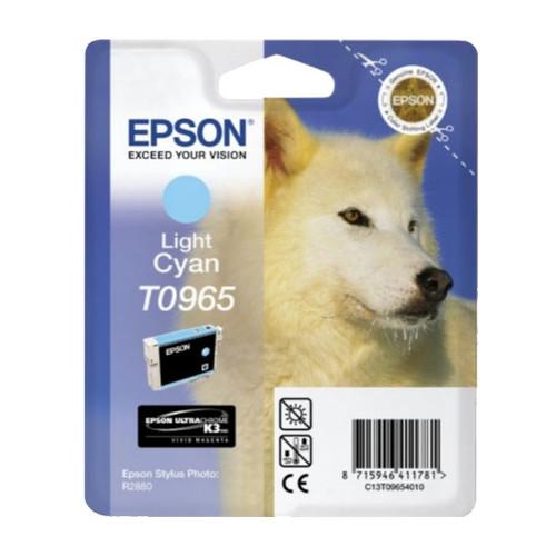 Tintenpatrone T0965 für Epson Stylus Photo R2880 11,4ml cyan hell Epson T096540 Produktbild Front View L