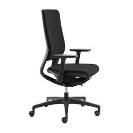Drehstuhl PREMIUM Mera98 mit Armlehnen ohne Kopfstütze Farbe 484 chicago schwarz Klöber Produktbild