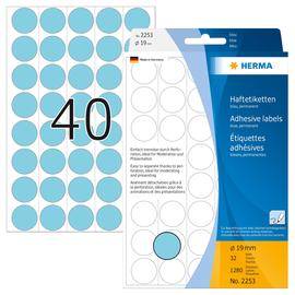 Markierungspunkte 19mm ø blau Herma 2253 (PACK=1280 STÜCK) Produktbild