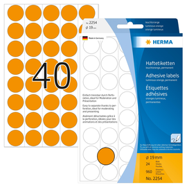 Markierungspunkte 19mm ø orange Herma 2254 (PACK=960 STÜCK) Produktbild