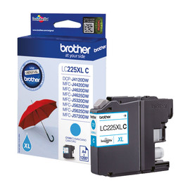 Tintenpatrone für DCP-J4120DW/ MFC-J4420DW 11,8ml cyan Brother LC-225XLC Produktbild