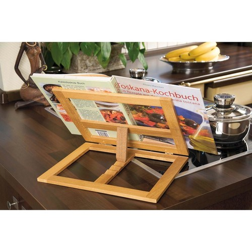 Buchständer 34x26x4,7cm aus Bambus braun Wedo 2113107 Produktbild Additional View 1 L