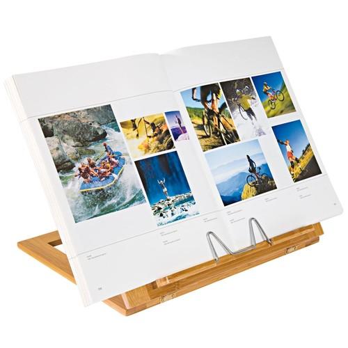 Buchständer 34x26x4,7cm aus Bambus braun Wedo 2113107 Produktbild Additional View 2 L
