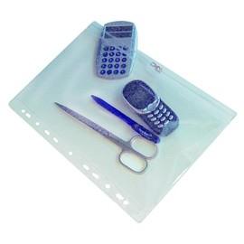 Gleitverschluss-Taschen mit Zip und Abheftrand ca. A4 hoch 305x190mm transparent PVC Foldersys 40410-00 Produktbild