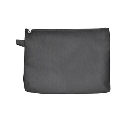 Banktasche mit Reißverschluss A5 190x255mm schwarz Nylon Foldersys 40407-30 Produktbild Front View L