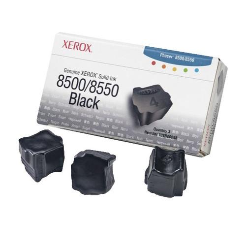 Tintenstix für Tektronix Phaser 8500 3000Seiten schwarz Xerox 108R00668 (PACK=3 STÜCK) Produktbild Front View L