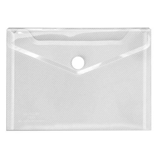 Dokumententasche Crystal mit Klettverschluss A6 bis 100Blatt transparent PP Veloflex 4560100 Produktbild Front View L