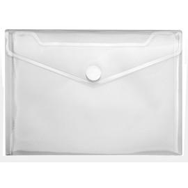 Dokumententasche Crystal mit Klettverschluss A5 bis 100Blatt transparent PP Veloflex 4550100 Produktbild
