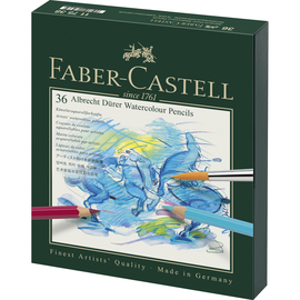 Aquarellstifte ALBRECHT DÜRER Atelierbox farbig sortiert Faber Castell 117538 (ETUI=36 STÜCK) Produktbild