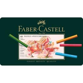Pastellkreiden POLYCHROMOS Kartonetui farbig sortiert Faber Castell 128560 (ETUI=60 STÜCK) Produktbild