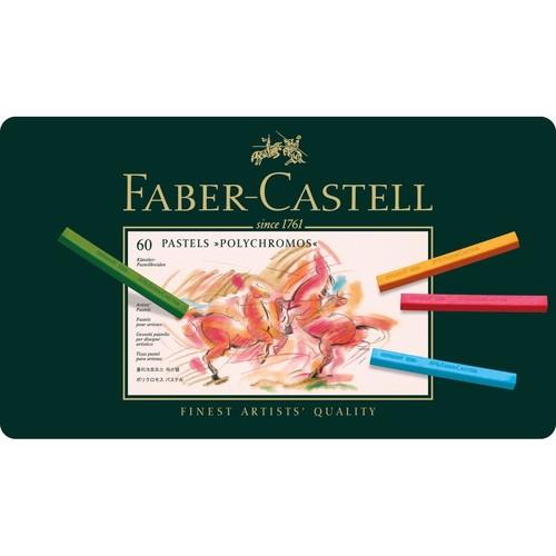 Pastellkreiden POLYCHROMOS Kartonetui farbig sortiert Faber Castell 128560 (ETUI=60 STÜCK) Produktbild Front View L