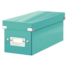 CD Ablagebox Click & Store 143x352x153mm eisblau Graukarton Leitz 6041-00-51 Produktbild