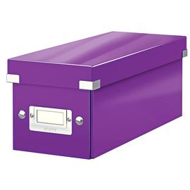 CD Ablagebox Click & Store 143x352x153mm violett Graukarton Leitz 6041-00-62 Produktbild