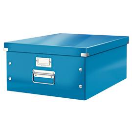 Archivbox WOW Click & Store für A3 369x200x482mm blau metallic Leitz 6045-00-36 Produktbild