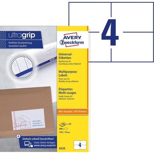 Laser Inkjet Kopierer 10 Blatt Klebeetiketten DIN A4 weiß 105x74mm