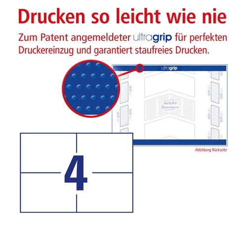 Etiketten Inkjet+Laser+Kopier 105x74mm auf A5 Bögen weiß Zweckform 6133 (PACK=800 STÜCK) Produktbild Additional View 3 L