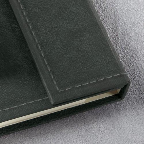 Notizbuch CONCEPTUM Vintage mit Magnetverschluss kariert A5 155x203mm 194 Seiten dark grey Hardcover Produktbild Additional View 7 L