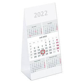 Tisch-Fünfmonatskalender 2022 9,5x19,5cm schwarz/rot Karton Zettler 982-0000 Produktbild