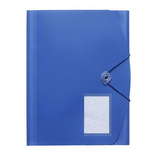 Eckspanner A4 für 500Blatt blau PP FolderSys 10028-40 Produktbild Front View L