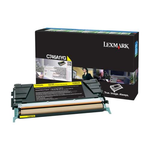 Toner für C746/C748 7000 Seiten yellow Lexmark C746A1YG Produktbild Front View L