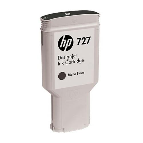 Tintenpatrone 727 für HP DesignJet T1500 300ml schwarz matt HP C1Q12A Produktbild Front View L