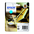 Tintenpatrone 16 für Epson Workforce WF 2010 W 3,1ml cyan Epson T162240 Produktbild