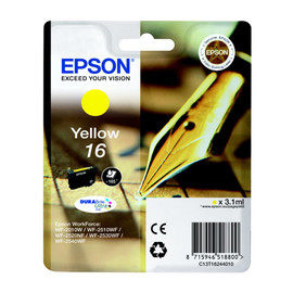 Tintenpatrone 16 für Epson Workforce WF 2010 W 3,1ml yellow Epson T162440 Produktbild