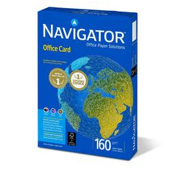 Kopierpapier Navigator Office Card A4 160g weiß holzfrei 82487A16S (PACK=250 BLATT) Produktbild