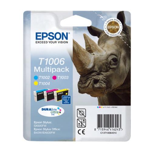 Tintenpatrone T1006 Multipack für Epson Stylus B1100/BX310 je 11,1ml cyan, magenta, yellow Epson T1006 (PACK=3 STÜCK) Produktbild Front View L