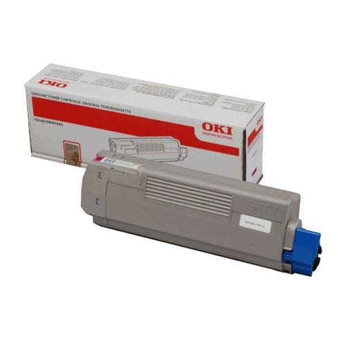 Toner für Oki C610N 6000 Seiten magenta OKI 44315306 Produktbild Front View L