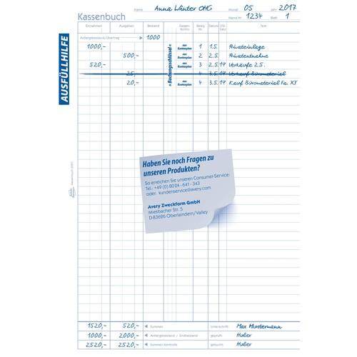 Kassenabrechnung A4 2x40Blatt selbstdurchschreibend Zweckform 1756 Produktbild Additional View 8 L