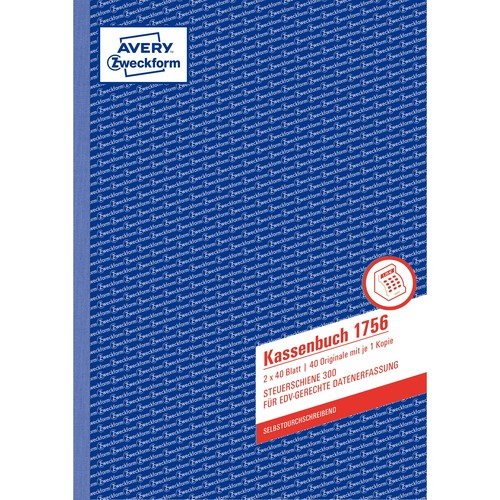Kassenabrechnung A4 2x40Blatt selbstdurchschreibend Zweckform 1756 Produktbild Additional View 1 L