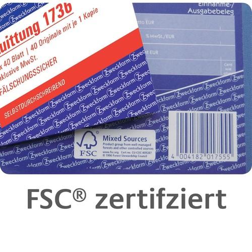 Kassenabrechnung A4 2x40Blatt selbstdurchschreibend Zweckform 1756 Produktbild Additional View 5 L