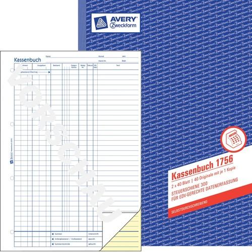 Kassenabrechnung A4 2x40Blatt selbstdurchschreibend Zweckform 1756 Produktbild Additional View 3 L