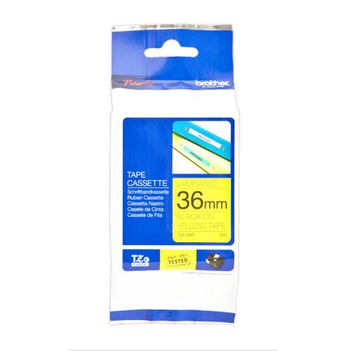 Schriftband laminiert 36mm/8m schwarz auf gelb Brother TZe-661 Produktbild Additional View 1 L