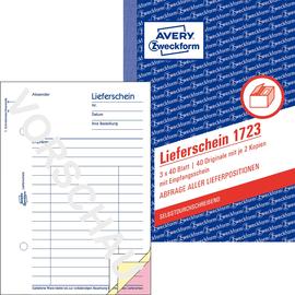 Lieferscheinbuch A6 hoch 3x40Blatt selbstdurchschreibend Zweckform 1723 Produktbild