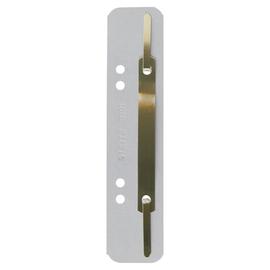 Einhänge-Heftstreifen kurz mit Metall-Deckschiene 35x158mm grau Karton Leitz 3701-00-85 (PACK=25 STÜCK) Produktbild