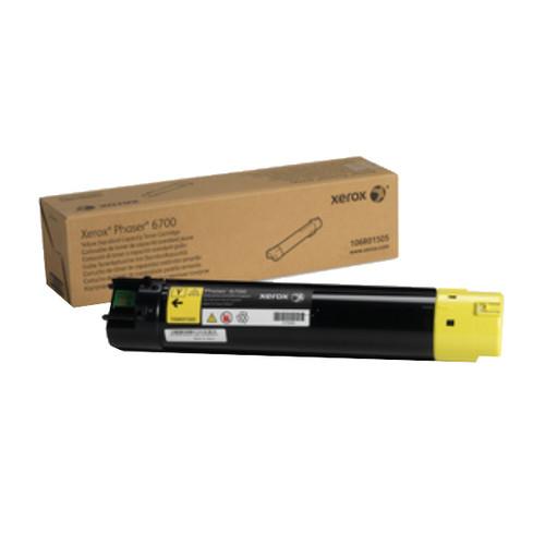 Toner für Phaser 6700 5000Seiten yellow Xerox 106R01505 Produktbild Front View L