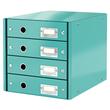 Schubladenbox Click&Store 4 Schübe 290x283x360mm eisblau Hartpappe Leitz 6049-00-51 Produktbild
