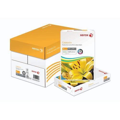 Kopierpapier Xerox Colotech+ A4 200g weiß FSC EU-Ecolabel 003R99018 168CIE (PACK=250 BLATT) Produktbild Front View L