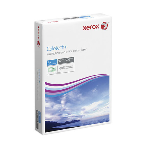 Kopierpapier Xerox Colotech Silk A4 170g weiß 003R96342 (PACK=250 BLATT) Produktbild Front View L