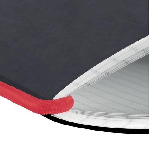 Notizheft flex A6 kariert schwarz 40 Blatt Lederoptik Herlitz 11361847 Produktbild Additional View 2 L