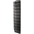 Prospekthalter-Wanddisplay Mesh 10x A4 260x104x1290mm schwarz Helit H6260195 Produktbild