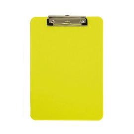 Klemmbrett mit Bügelklemme kurze Seite A4 transparent gelb Kunststoff Maul 23406-11 Produktbild